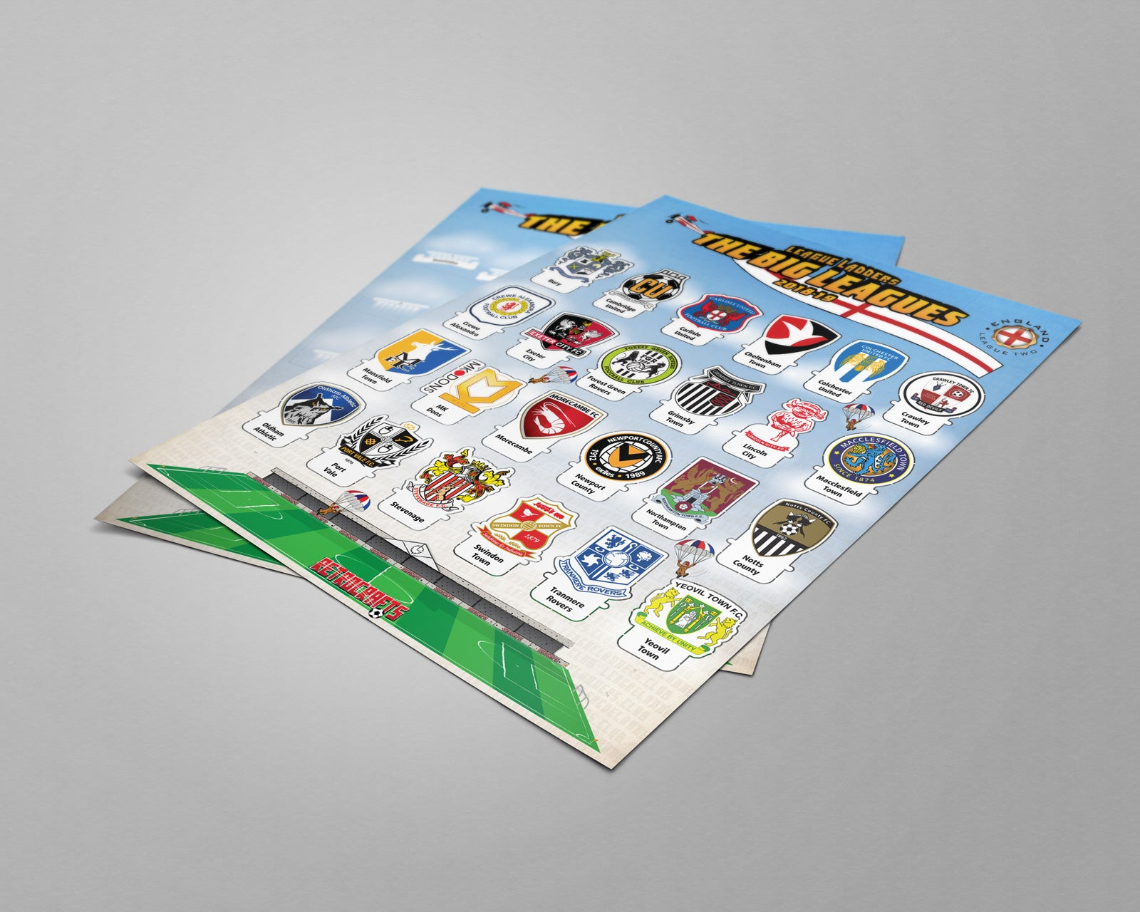 League Ladders - The BIG Leagues! English Football League Tiers 1-4 2018/2019
