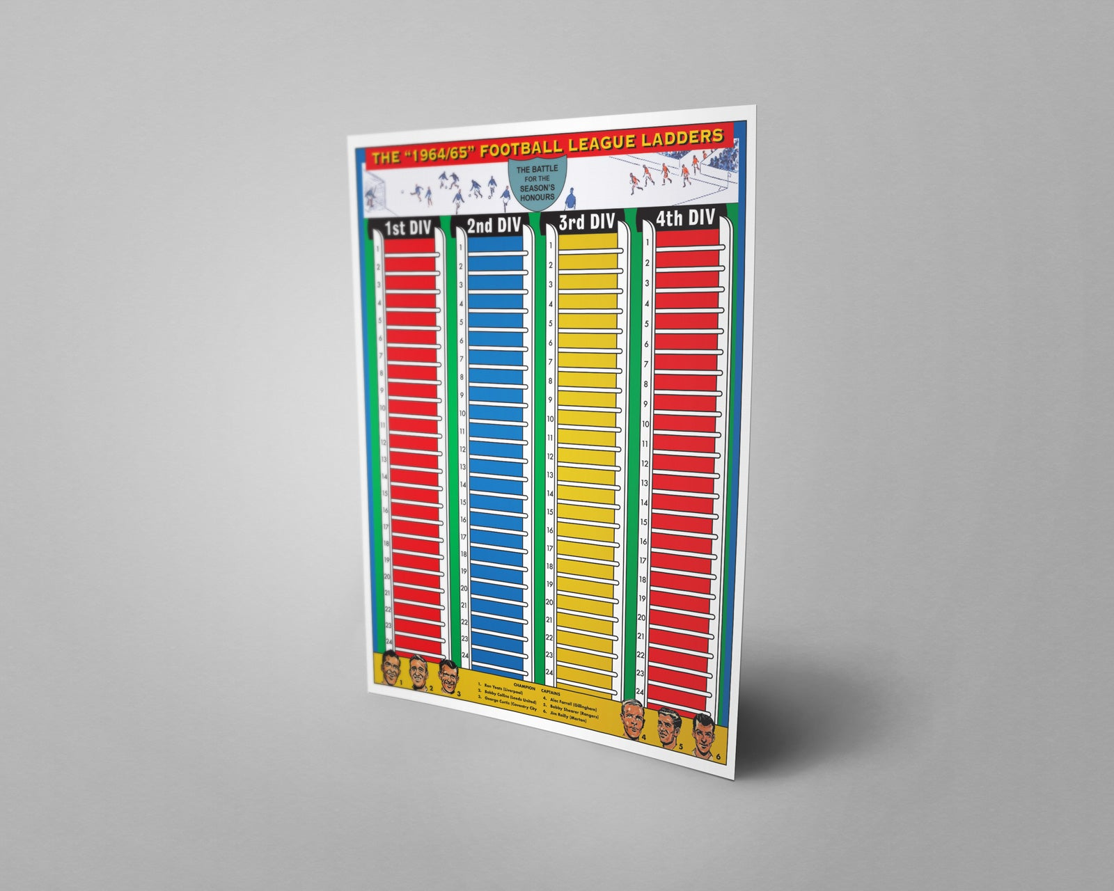 1960's Style National League Steps 1 & 2 2018/2019 Season League Ladders - NEW!