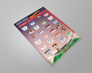 Germany Football League Bundesliga, 2.Bundesliga, 3.Liga Tiers 1-3 2019 Season League Ladders