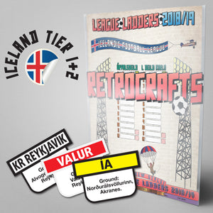 Iceland Football League Úrvalsdeild karla & 1. deild karla Tiers 1-2 2018/2019 Season League Ladders