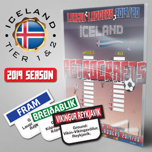 Iceland Football League Úrvalsdeild & 1. Deild Tiers 1 & 2 2019 Season League Ladders