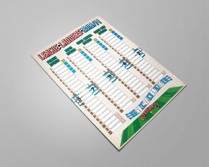 Isthmian League Tiers 7-8 2018/2019 Season League Ladders - NEW!