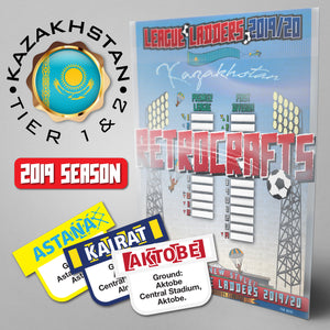 Kazakhstan Football League Premier League and 1. Division Tiers 1&2 2019 Season League Ladders