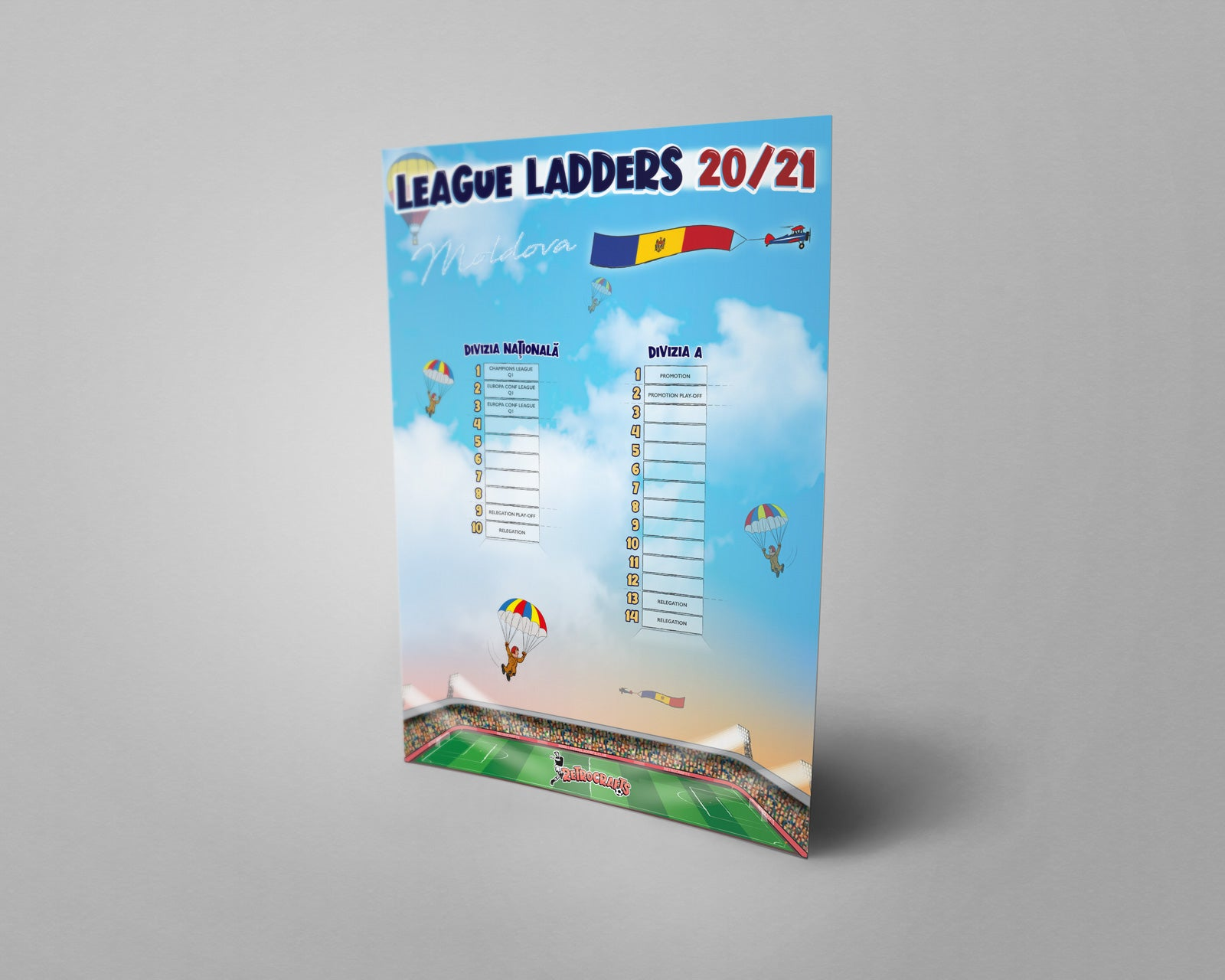 Moldova Football League Tiers 1 & 2 2020/21 Season League Ladders