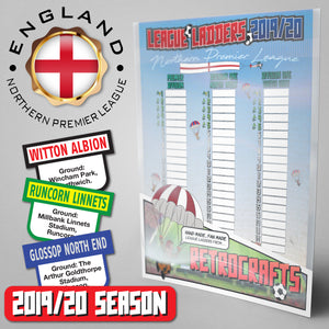 Northern Premier League Steps 3&4 2019/2020 Season League Ladders