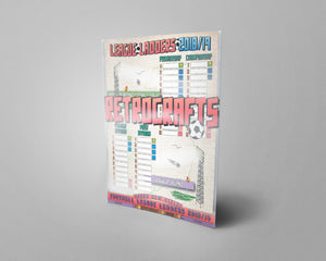 League of Ireland and Northern Ireland Football League Tiers 1-2 2018/2019 Season League Ladders - NEW!