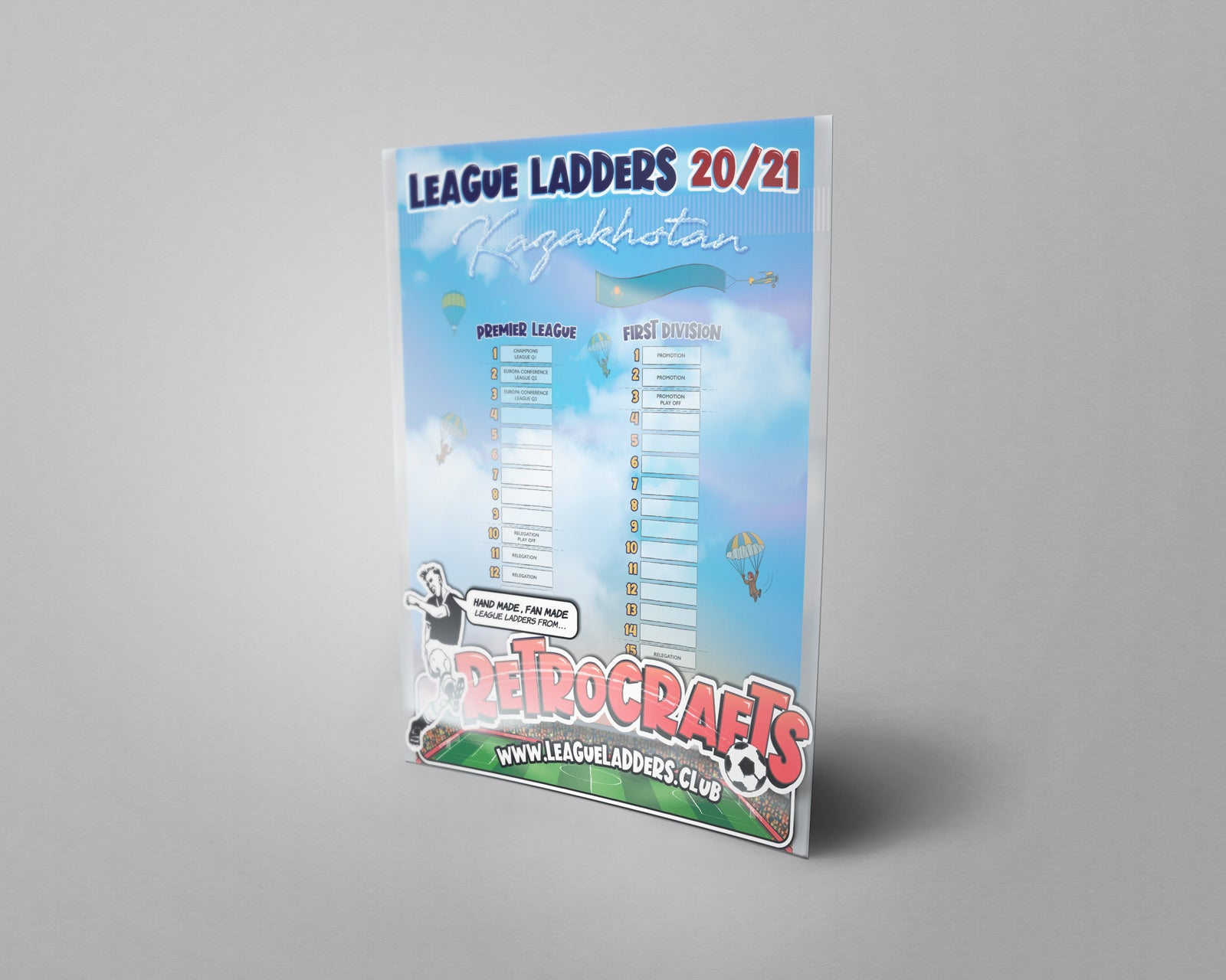 Kazakhstan Football League Premier League and First Division Tiers 1-2 2020 Season League Ladders