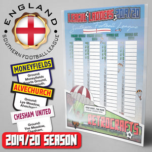 Southern Football League Steps 3&4 2019/2020 Season League Ladders