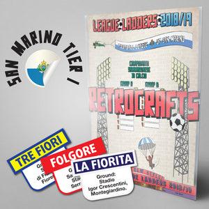 San Marino Football League Girone A and Girone B Tier 1 2018/2019 Season League Ladders - NEW!