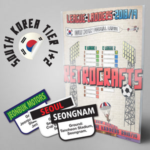 South Korean Football League K1 League and K2 League Tiers 1-2 2018/2019 Season League Ladders