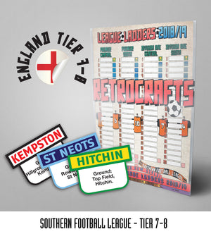 Southern Football League Tiers 7-8 2018/2019 Season League Ladders - NEW!