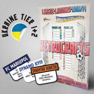 Ukraine Football League Premier & Persha Liha Tiers 1-2 2018/2019 Season League Ladders - NEW!