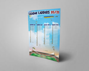 Ukraine Football League Tiers 1-3 2020/21 Season League Ladders