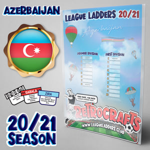 Azerbaijan Football League Tiers 1 & 2 2020/21 Season League Ladders