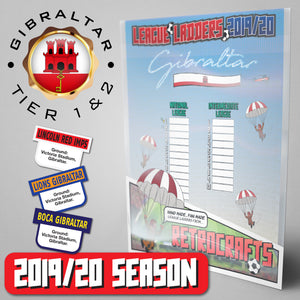 Gibraltar Football League National League and Intermediate League Tiers 1&2 2019 Season League Ladders