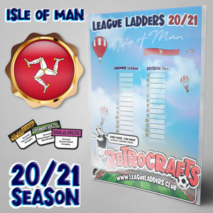 Isle of Man Football League 2020/21 Season League Ladders