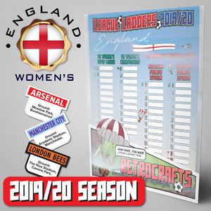 Women's English Football League Tiers 1-3 2019/2020 Season League Ladders Continental Edition