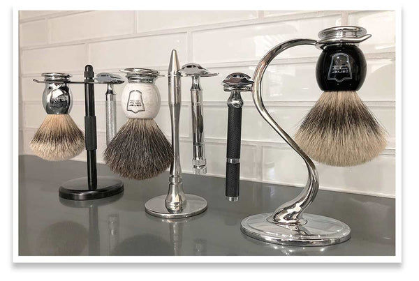 Choose from a selection of shave stands to get the most out of your shave brush.