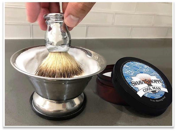 Achieving the perfect lather with your shave soap is easy!