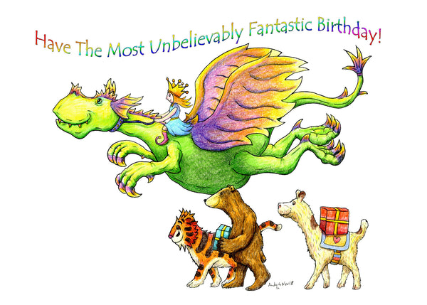 Unbelievably Fantastic Birthday Greeting Card