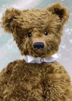 Arbuthnot, an extremely large and elegant classical, traditional mohair artist teddy bear by Barbara Ann Bears Arbuthnot is a very big classical teddy bear, he stands 28 inches (71cm) tall and is 21 inches (54cm) sitting, he's heavy too, weighing about 4kg/9lb. Arbuthnot is the second of an edition of 2.