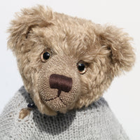 Bosworth, a large, traditional mohair teddy bear by Barbara Ann Bears