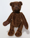 Bruno is a gorgeous little one of a kind traditional teddy bear made from beautiful rich brown mohair by Barbara Ann Bears  Bruno stands 10.5 inches (26cm) tall and is 8 inches (20cm) sitting.