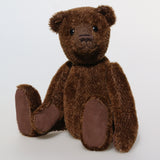 Bruno is a beautiful traditional bear, he is very sweet and cuddly and loves human company. Bruno has to maintain his beautiful brown colour by eating lots of chocolates, it's the first thing he tells people when he meets them