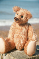 Little Digby PRINTED traditional jointed mohair teddy bear sewing pattern by Barbara-Ann Bears for a cute traditional 11 inch/28cm teddy bear