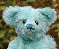 The Noogie Teddy Bear pattern makes a large, classical, traditional mohair Barbara-Ann Bear about 22 inches (55cm) tall.  A teddy bear sewing pattern to make a large traditional mohair artist teddy bear with a long snout and long arms and legs