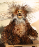Dickens is an endearingly sweet and joyful, one of a kind, artist teddy bear by Barbara-Ann Bears in wonderful and very fluffy tipped mohair Dickens stands 9.5 inches (24 cm) tall and is 7.5 inches (19 cm) sitting.  Dickens is a joyful and sweet fellow, full of happy smiles and long tender cuddles, he's a lovely fluffy bear with beautiful hand painted eyes and an amazing smile
