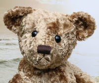 Eduardo is a large traditional one of a kind, vintage velvet artist teddy bear by Barbara Ann Bears