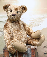 Eduardo is a large, traditional one of a kind, artist teddy bear in splendid vintage crushed velvet by Barbara Ann Bears Eduardo is quite a large bear, he's 21.5 inches (54 cm) tall and is 15 inches (39 cm) sitting. Eduardo is a wonderful, friendly traditional teddy bear with a great presence