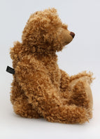 Egbert, a large, elegant one of a kind, classical, traditional mohair artist teddy bear made by Barbara-Ann Bears Egbert is a large, classical teddy bear, he stands 22 inches (56cm) tall and is 15 inches (38cm) sitting. He is a wonderful traditional bear with his long snout, arms and legs and his gorgeous, curly mohair