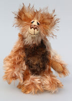 Elliott Tuckle is a gorgeous little bear, an appealingly wild and friendly one of a kind batik mohair artist teddy bear by Barbara-Ann Bears Elliott Tuckle stands 8 inches (20 cm) tall and is 6 inches (15 cm) sitting.
