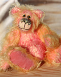 Ethel, a one of a kind, hand-dyed mohair artist teddy bear by Barbara-Ann Bears