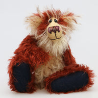 Erskine is a one of a kind, artist teddy bear in beautiful German mohairs by Barbara-Bears
