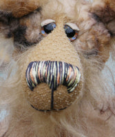 Fitzwilliam Flimdumple is a gently humorous, one of a kind, artist bear by Barbara-Ann Bears