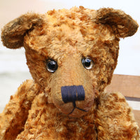Grimble PRINTED traditional jointed mohair teddy bear sewing pattern by Barbara-Ann Bears