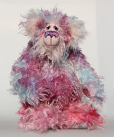 Gwendolyn is a sweet and beautifully colourful, one of a kind artist bear, in gorgeous hand dyed mohair by Barbara-Ann Bears Gwendolyn stands 14 inches( 35 cm) tall and is 11 inches (28 cm) sitting. Gwendolyn is a delightful and pretty bear with a very sweet and happy personality.