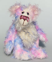 Jemima Daydream is an endearing, sweet and pretty, one of a kind, artist bear, by Barbara-Ann Bears