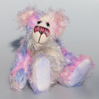 Jemima Daydream is an endearing, sweet and pretty, beautifully coloured, one of a kind artist bear, in hand dyed mohair by Barbara-Ann Bears