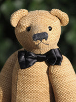Ludovic is an elegant and refined, one of a kind, traditional teddy bear by Barbara Ann Bears