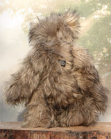 Mantovani is a very shaggy, wild and wonderful, one of a kind, artist teddy bear in gorgeous pale grey tipped with black faux fur & long fluffy beige mohair by Barbara-Ann Bears Mantovani is quite a large and heavy teddy bear, he stands 19.5 inches (50 cm) tall and is 14.5 inches (37 cm) sitting.