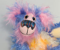 Martha Muffin, a bright and cheerful, one of a kind, artist teddy bear by Barbara-Ann Bears