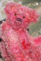 Maude is a pretty, traditional, one of a kind hand-dyed mohair artist teddy bear by Barbara Ann Bears