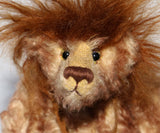 McGraw is a wild and mysterious, one of a kind mohair artist bear by Barbara Ann Bears
