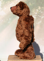 McPherson is a very sweet, traditional teddy bear in German mohair by Barbara Ann Bears