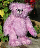 Megan is a pretty and feminine, traditional, one of kind, mohair artist bear by Barbara Ann Bears