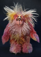 Myfanwy is a one of a kind, artist teddy bear in hand dyed mohair by Barbara-Ann Bears